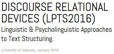 Discourse Relational Devices (LPTS2016)